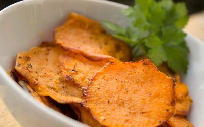 Oven Baked Kumara (aka Sweet Potato) Chips